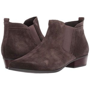Naturalizer Taupe Suede Pointed Toe Ankle Boots9.5